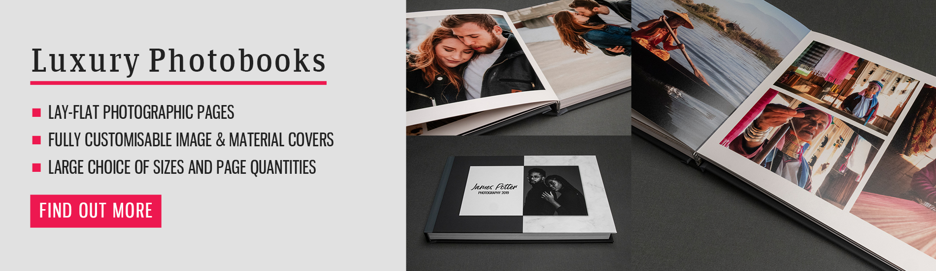 luxury photo books banner