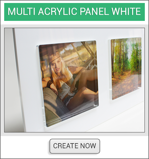 White Mutli Acrylic Create Now