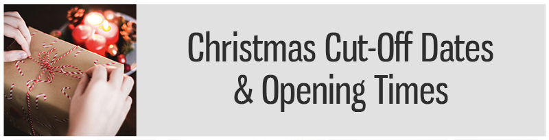 christmas opening times and cut off dates button