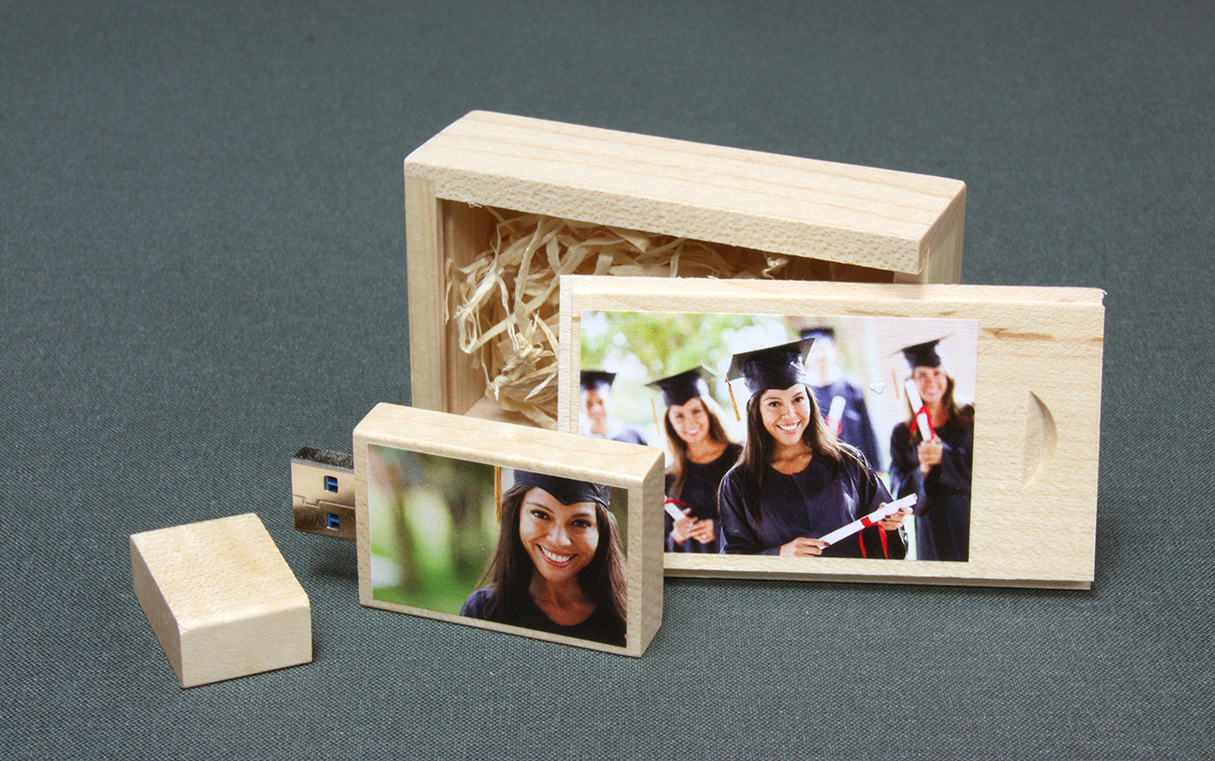 Wooedn Slide Box and Wooden USB