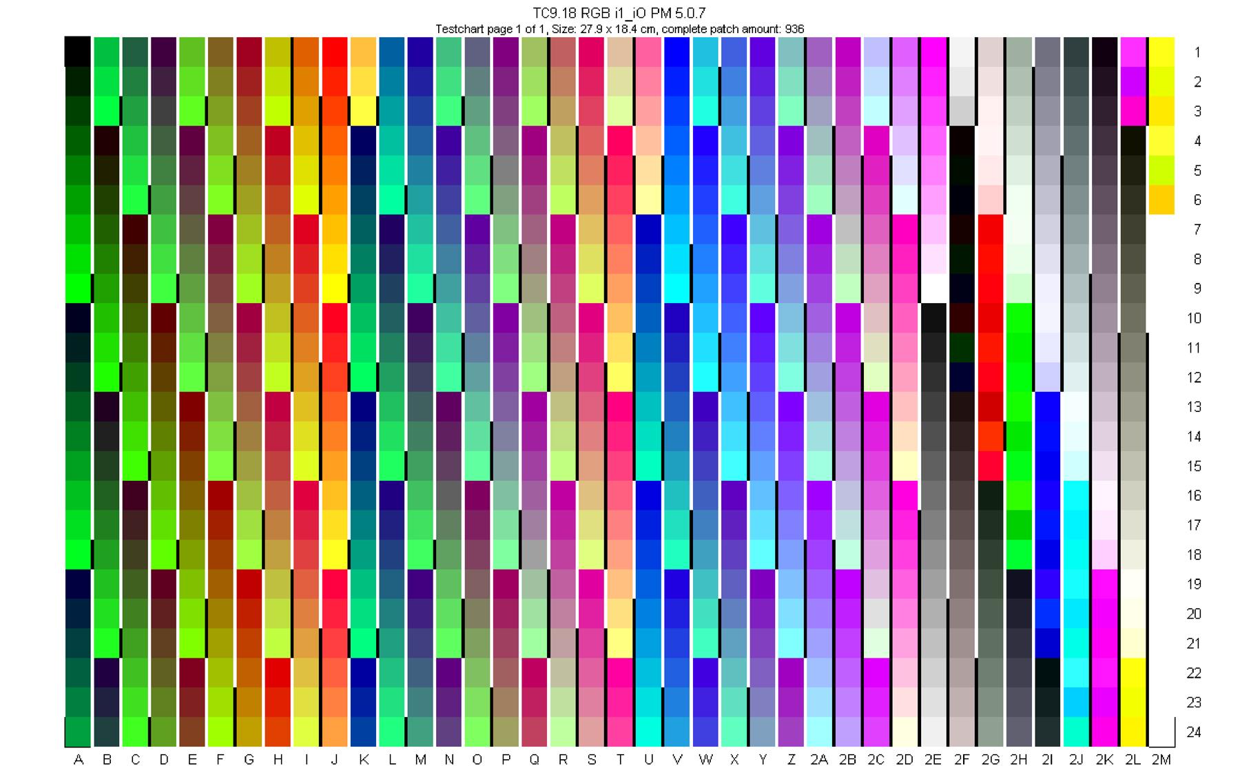 Картинка для проверки цветов на принтере
