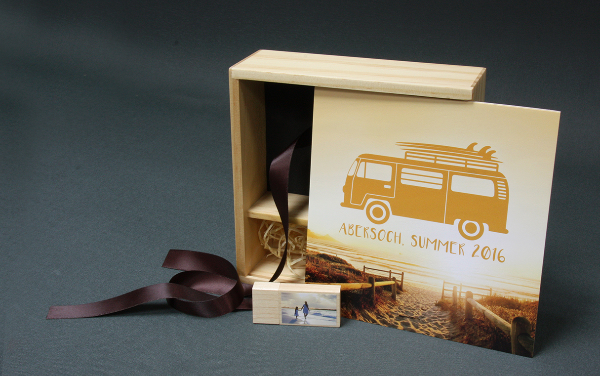Wooden Print Box and Wooden USB