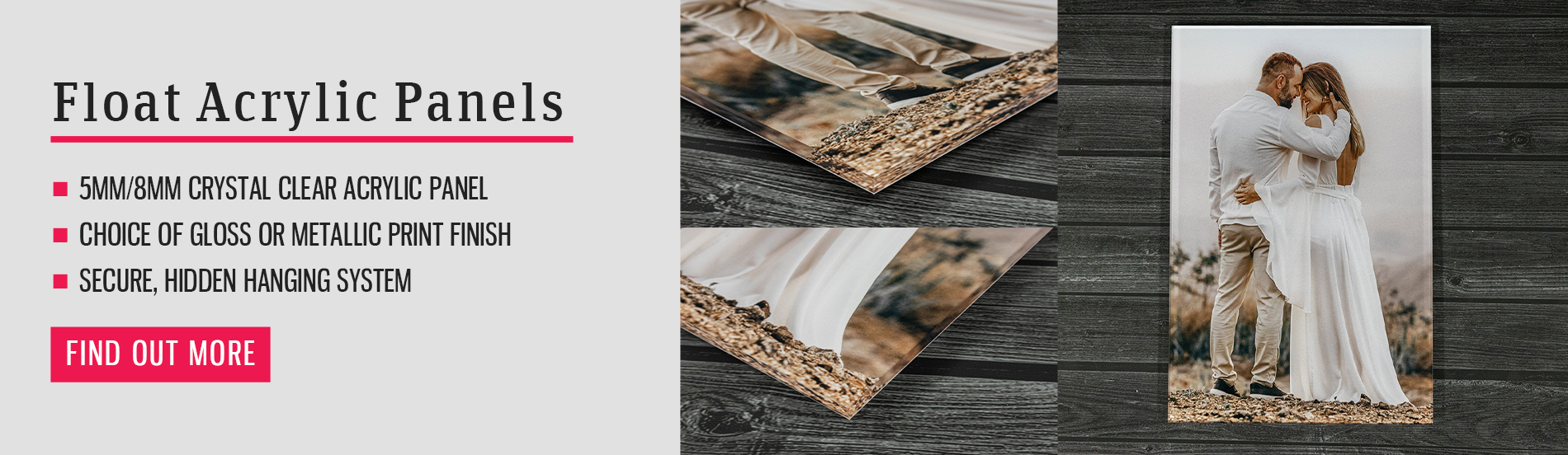 acrylic photo panels banner