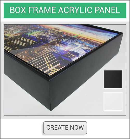 Box Framed Acrylic Create Now