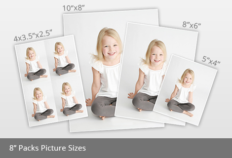 8 inch packs picture sizes